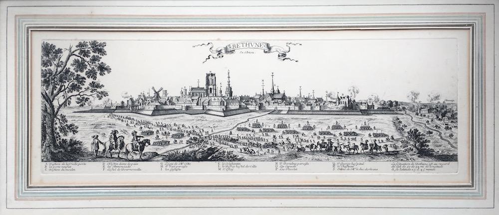 Gravure de la ville de Béthune - Maison de Béthune