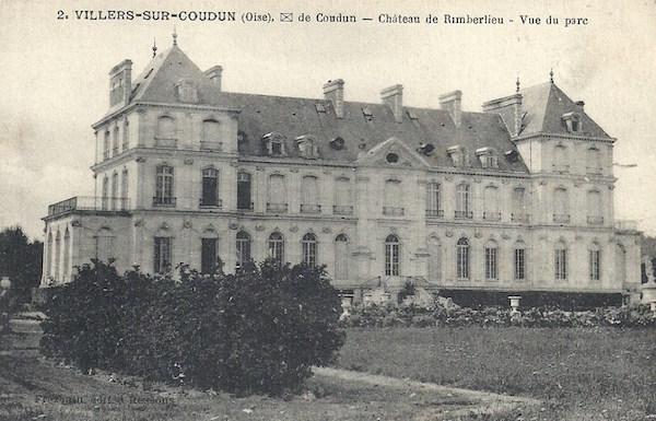 Château de Rimberlieu vue du Parc construit en 1892 par le Comte Maximilien de Béthune Hesdigneul