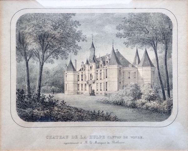 Château de la Hulpe appartenant au Marquis de Béthune - Maison de Béthune