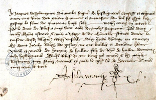 Documents Jacques des Plancques