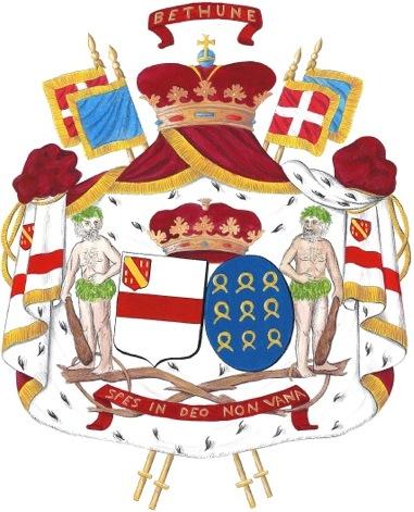 État présent armoiries d'alliance Béthune Roquefeuil