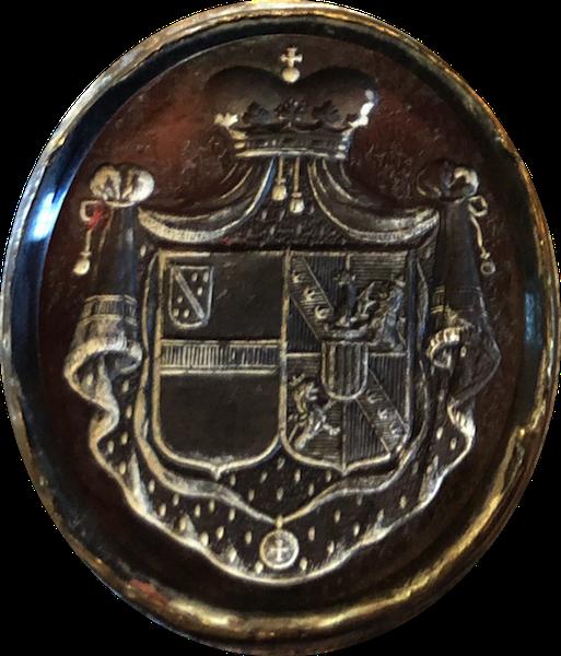 Sceau d'une des Alliances de la Maison de Béthune Hesdigneul : Béthune - Bidal d'Asfeld