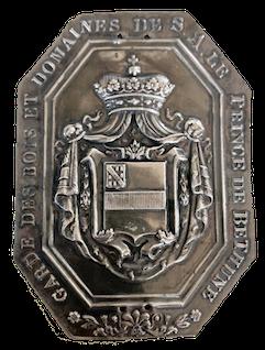 Plaque de garde des bois et domaines de SA le Prince de Béthune